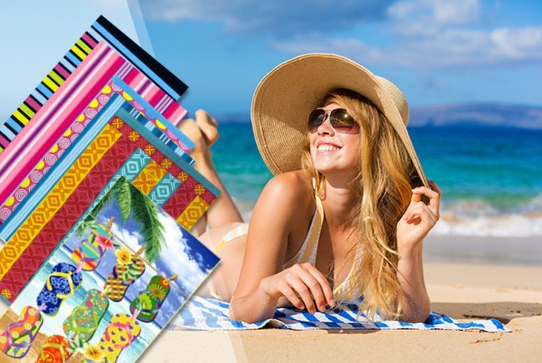 £5.99 instead of £17.99 (from MYO Fashion) for a colourful print beach towel valid in a range of designs, £10 for two - save up to 67%