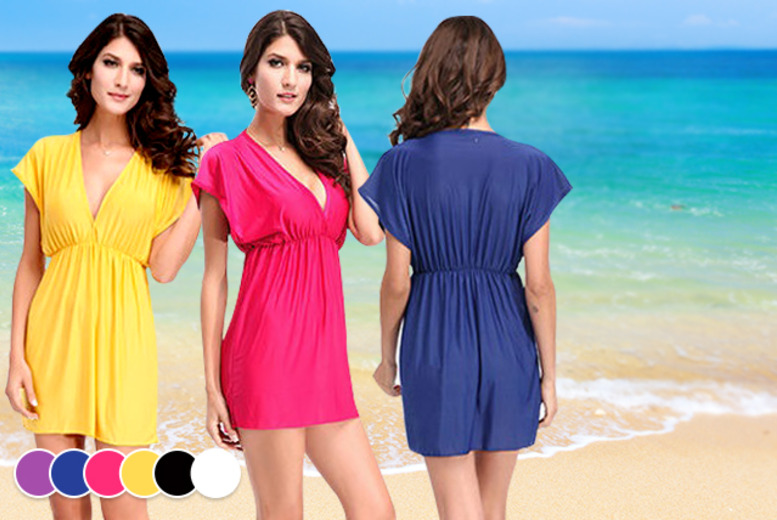£7.99 instead of £34.99 (from Fizzy Peach) for a beach kaftan dress in a choice of 6 colours - get ready for summer in style and save 77%