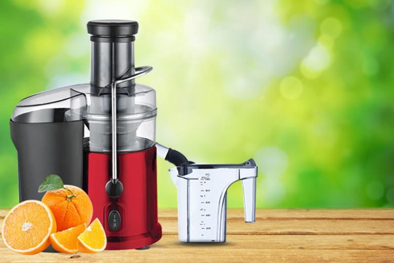 £29.99 instead of £97.99 (from Web 18) for a red Bella Casa chrome juicer - save a belting 69%