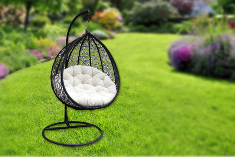 £219.99 instead of £249.99 (from BuyDirect4U) for a black rattan hanging pod chair