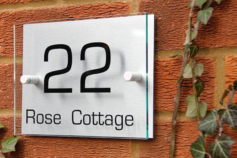 £9.99 instead of £24.99 (from Acrylic Signs UK) for a personalised house sign - save 60%
