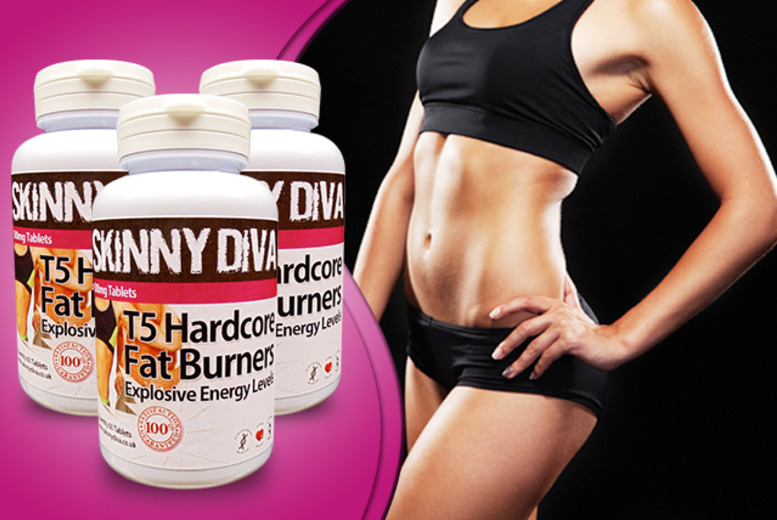 £14 (from Skinny Diva) for a 1-month* supply of T5 'Fat Burner' capsules, or £19 for a 3-month* supply - save up to 65% + DELIVERY INCLUDED