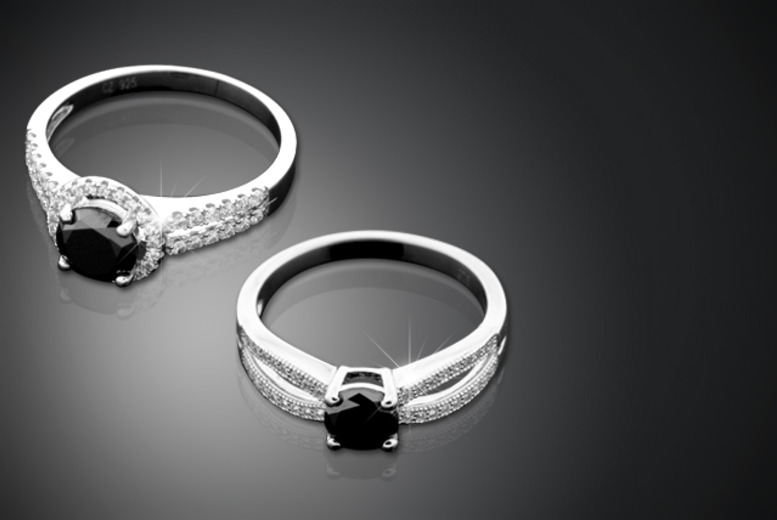 £99 instead of £499.99 (from British Gem) for a 1-carat black diamond ring mounted on sterling silver in a choice of two designs - save 80%