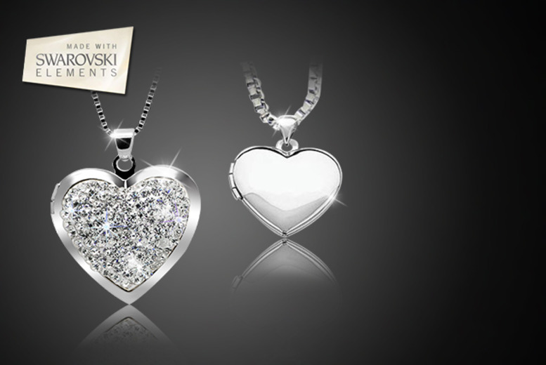 £9 instead of £70 (from Cian Jewels) for a plain or crystal heart-shaped locket necklace - save 87%