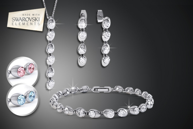 £19 instead of £149 (from Rocks of London) for a Swarovski Elements moonlight tri set inc. earrings, necklace and bracelet - save 87%