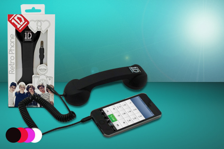 £7.99 instead of £19.99 (from Uber Phunk) for a One Direction retro phone handset - save 60%