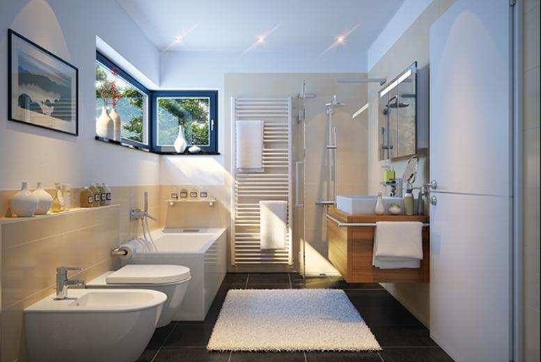 £2500 for a complete professional designer bathroom installation from Haynes Bathrooms, Birmingham - save up to 38%