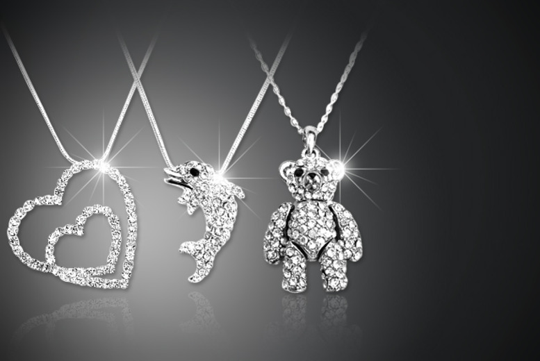 £7 instead of £15 (from Leila Eve) for a necklace with a choice of diamante pendants - save 53%