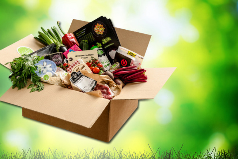 £14 for a 'classic' or veggie box of home-delivered recipes inc. fresh ingredients, £26 for a 'family' box from Hello Fresh - save up to 64%