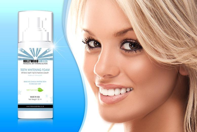 £7.99 instead of £15 (from Hollywood Smiles) for a 50ml bottle of teeth whitening foam, 3 bottles for £21 - save up to 47%