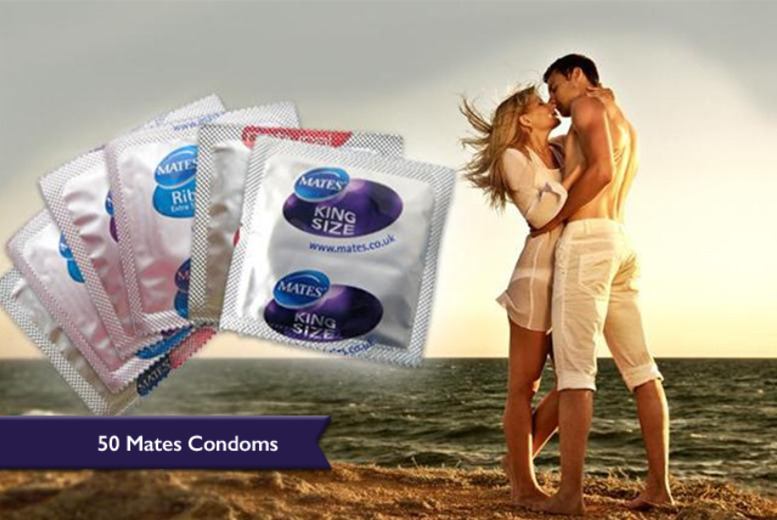 £8.99 instead of £41.60 (from Merchtopia) for a pack of 50 Mates condoms in a choice of varieties - save 78%