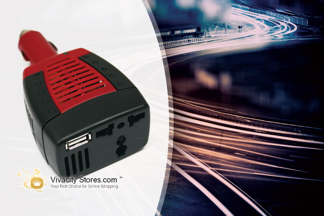 £9.99 instead of £39.99 (from Vivacity Stores) for an In Car Power Inverter Adapter – plug in and charge your gear on the go and save 75%