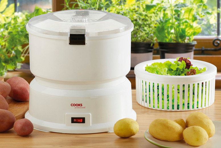 £24.99 instead £49.99 for an electric potato peeler and salad spinner from CJ Offers - save 50%