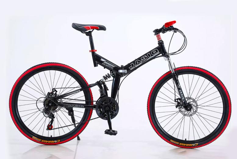 Image of Foldable Bike   Red   Living Social