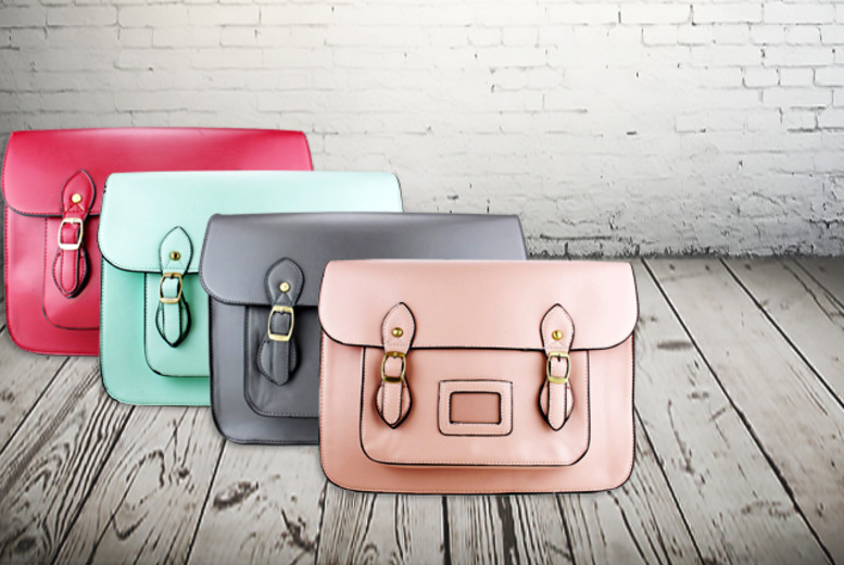 £14.99 instead of £29.45 (from Miss Lulu) for a stylish faux-leather satchel in a choice of 8 colours - save a smart 49%