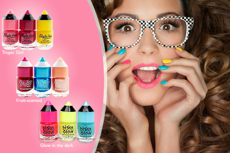 £9.99 instead of £24 for a 9-piece nail polish set including glow in the dark, fruit-scented and Tropic Girl from Wowcher Direct - save 58%
