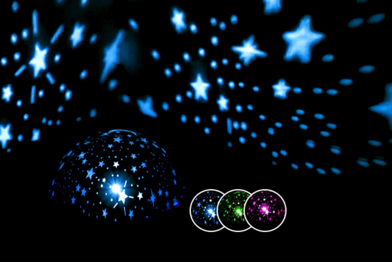 £5 (from Web 18) for a static night light galaxy projector, or £6 for a 360-degree rotatable galaxy projector - save up to a starry 67%