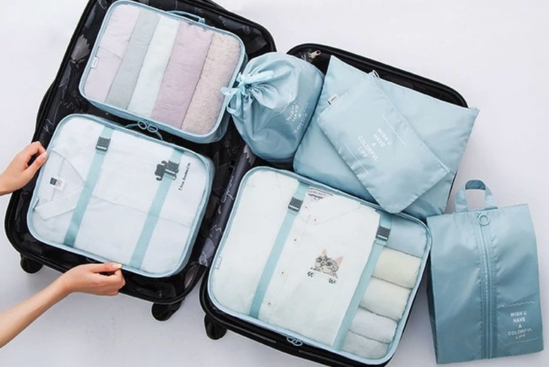 £14.99 instead of £39.99 for a seven-piece travel cube set from WishWhooshOffers - save 63%