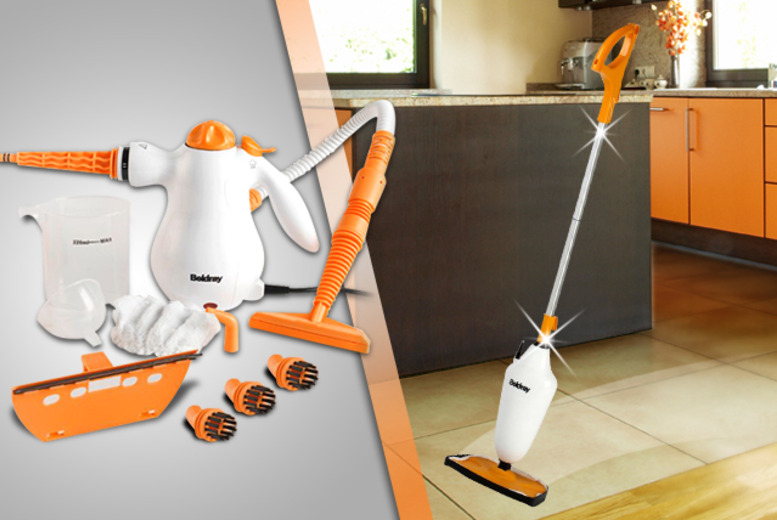 £39 instead of £78.01 (from Wowcher Direct) for a Beldray steam mop & 8-in-1 hand held steam cleaner bundle - save 50%