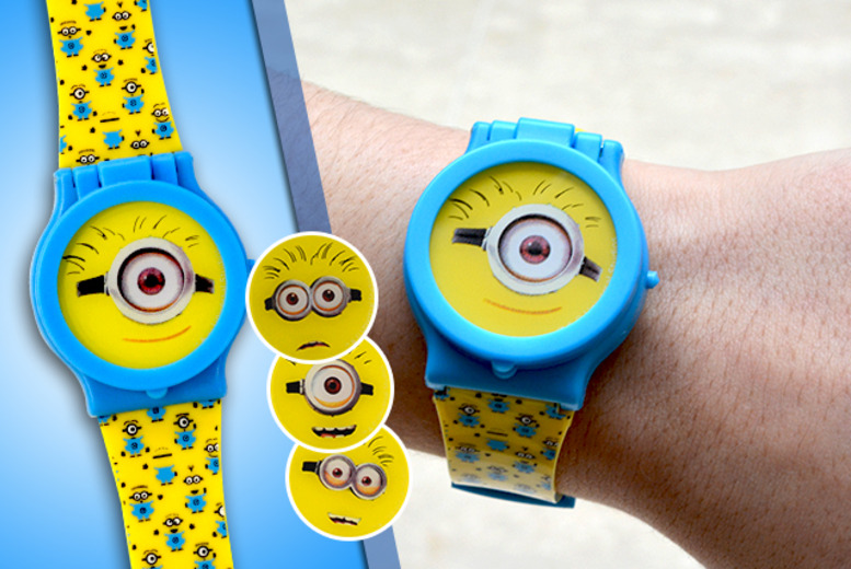 £7.99 instead of £17.99 (from London Exchainstore) for a <i>Despicable Me</i> digital wristwatch with 4 changeable Minions faces - save 56%