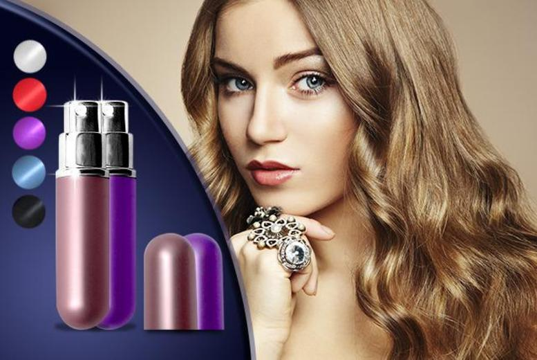 £4.99 instead of £14.99 (from Quick Style) for a set of 2 perfume atomisers, £6.99 for 4 or £8.99 for 6 - spritz in style and save up to 67%