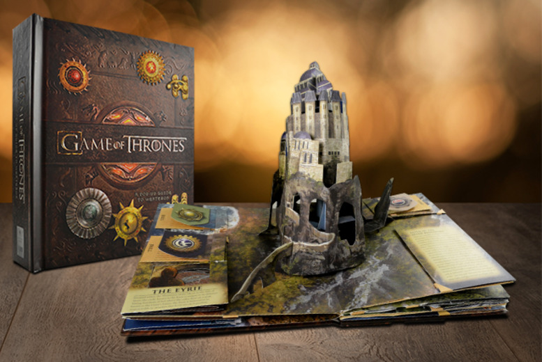 £25 (from Random House) for a hardback copy of 'Game of Thrones: A Pop-up Guide to Westeros'