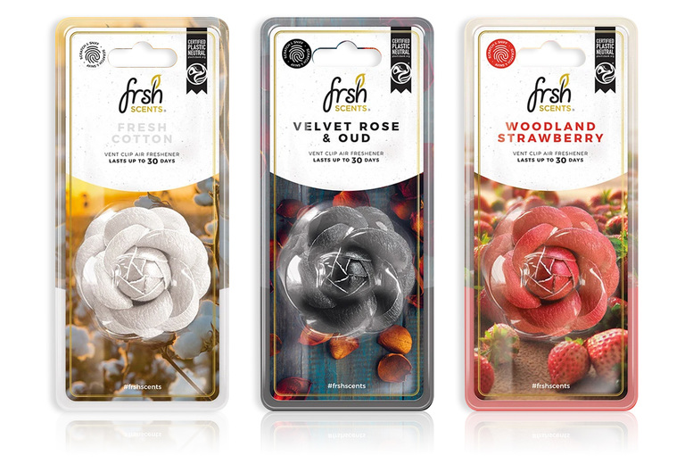 £7.99 for three luxury flower vent clip air fresheners in Velvet Rose & Oud, Fresh Cotton and Woodland Strawberry