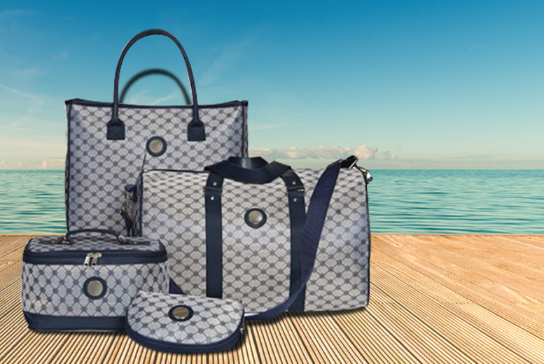 £9.99 for a stylish jacquard overnight bag, £19.99 for a 4-piece weekender luggage set, £27.99 for both from Wowcher Direct - save up to 75%