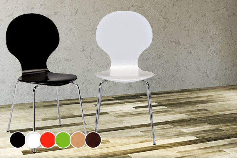 £39.99 (from Mattress Shed) for two Fiesta dining chairs in a choice of 6 colours, or £79.99 for four chairs - save up to 50%
