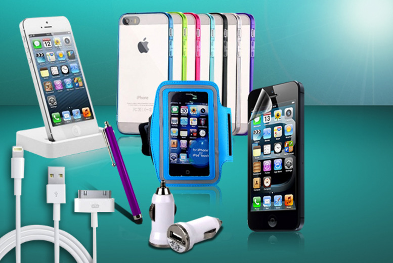 £9.99 instead of £39.99 (from Links 4) for a 12-piece mega iPhone accessories bundle - save 75%