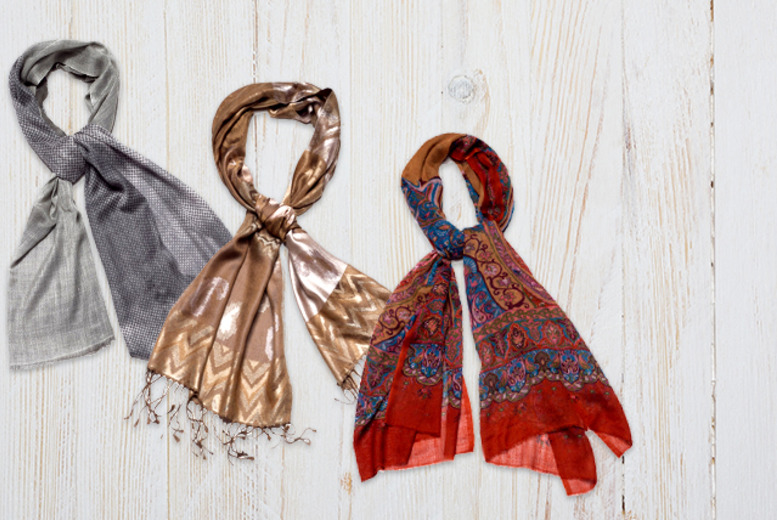 £9 instead of £40 (from Luxe Fashion) for a 100% Indian silk fashion scarf in a choice of 3 designs - save 78%