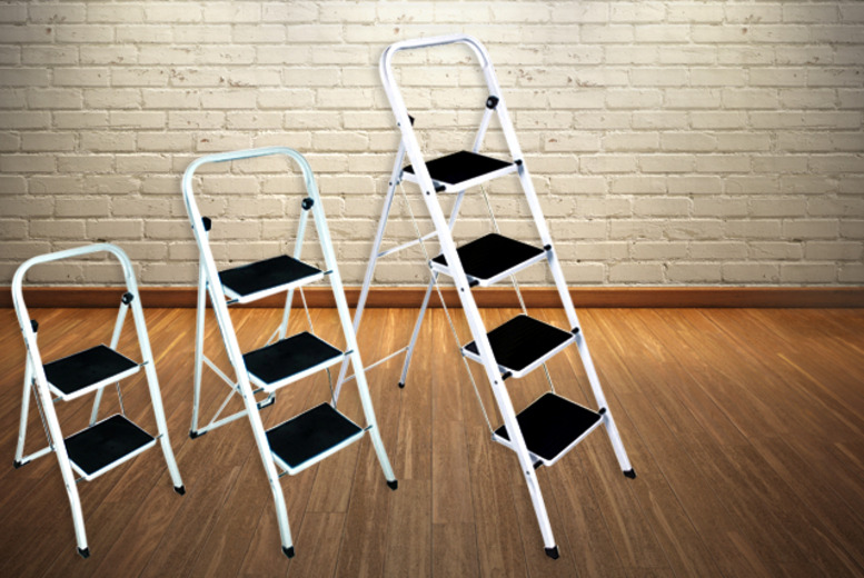 £12 instead of £29.99 for a foldable non-slip 2-step step ladder, £15 for a 3-step or £20 for a 4-step from Wowcher Direct - save up to 52%