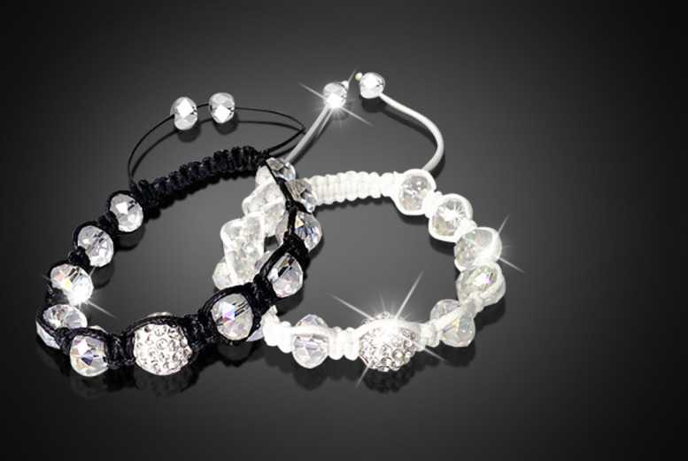 £8 instead of £49.98 (from Suga Rush Love) for two crystal and beaded Shamballa bracelets - save 84%