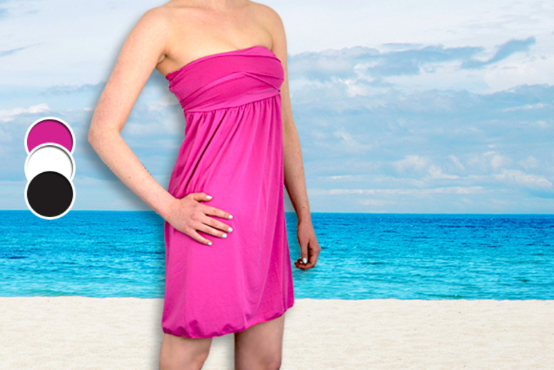 £7.99 instead of £29.99 (from Marcus Emporium) for a multi-wrap beach dress in a choice of 3 colours - save 73%