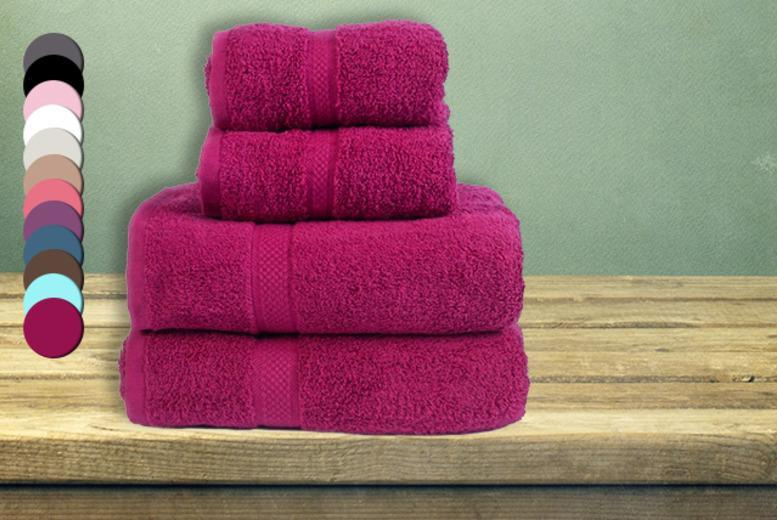 £12.95 instead of £37.04 for a 4-piece Egyptian cotton towel set, £19.95 for a 10-piece set from Wowcher Direct - save up to 65%