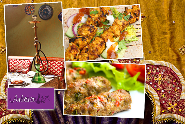 £14 instead of up to £38.90 for a Mediterranean meal + shisha for 2, or £28 for 4 with Ambience Restaurant, Wimbledon – save up to 64%