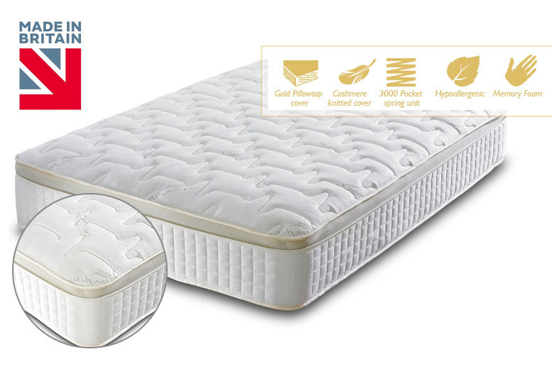 From £189 instead of £1289 (from Furni Stop) for a 3000 pocket sprung and memory foam mattress - choose from five sizes and save up to 85%
