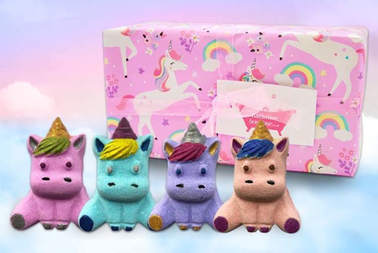 Image of Unicorn Bath Bomb Gift Set   Living Social