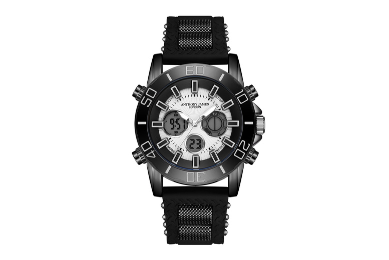 Image of Anthony James Black Sports Watch | Living Social
