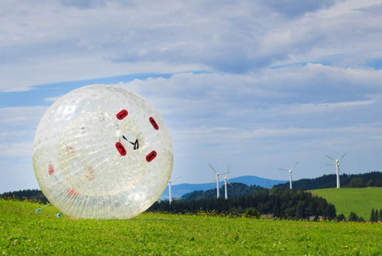 £17 instead of £49 for a zorbing experience for one, or £29 for two people at Leisure Matters, 3 locations - save up to 65%