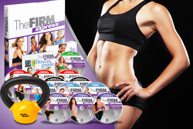 £34.99 instead of £104.98 (from Home Shopping Mall) for a 'Firm Express' 30-day home fitness programme DVD inc. a 5lb kettlebell - save 67%