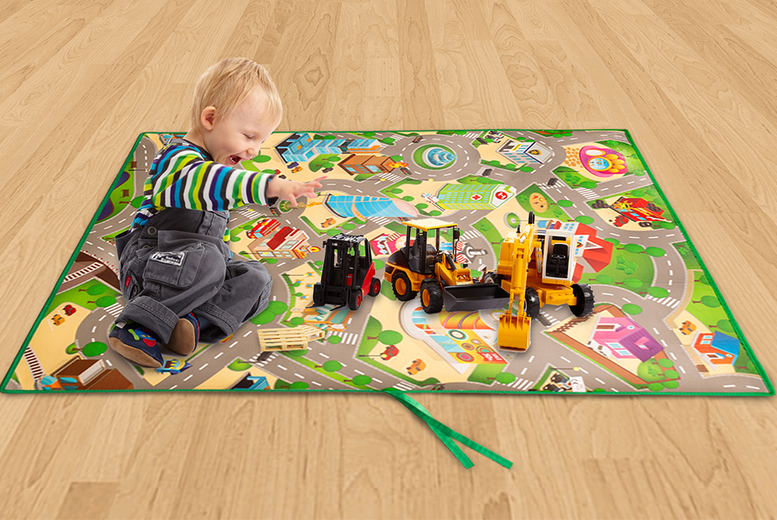 The Best Deal Guide - £12.99 instead of £23.99 for a kids' city streets play mat from Ckent Ltd - save 46%