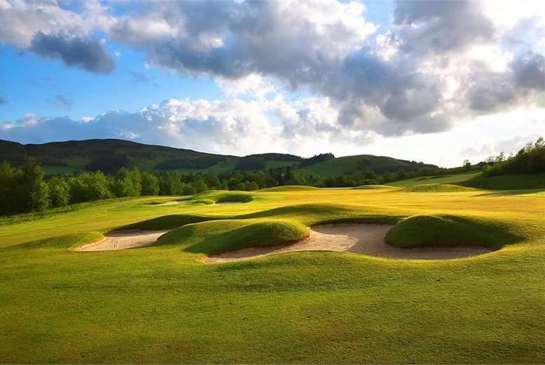 £29 for 18 holes of championship golf for two with a bacon roll and a drink each, £49 for four at Macdonald Cardrona Hotel, Golf & Spa, Peebles - save up to 81%
