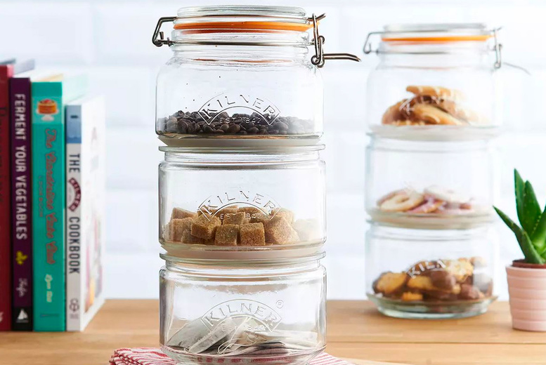 £12.99 instead of £21 for a stackable jar set or £21 for two sets - save up to 38%