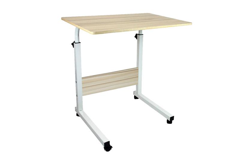 Image of Adjustable Desk With Wheels   Black   Living Social