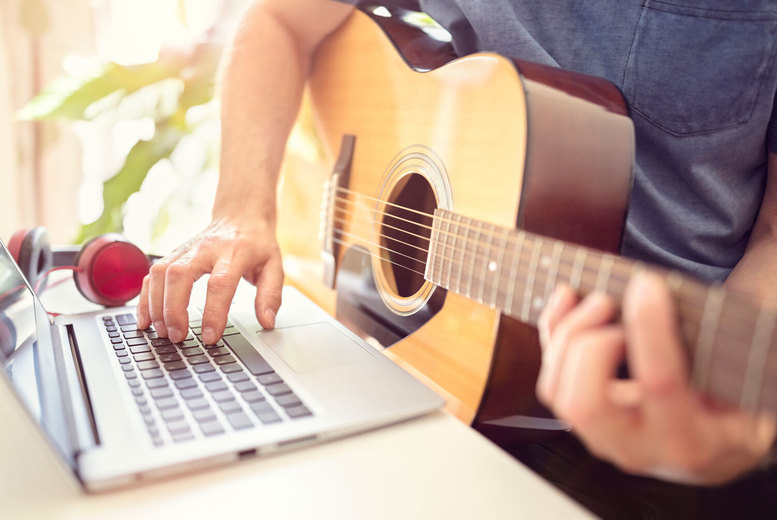 £10 for two 30-minute private live music lessons online from Rhythm Room Music School - choose from four instruments or vocal and save 75%