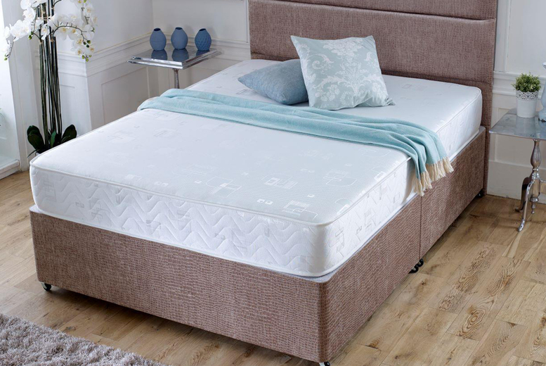 From £59 instead of £159.99 for a small single Harmony sprung six-core memory foam mattress from Desire Beds – save up to 63%