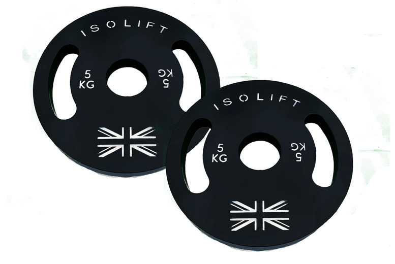 Image of Pair Of 5Kg Powder Coated Plates | Black | Living Social