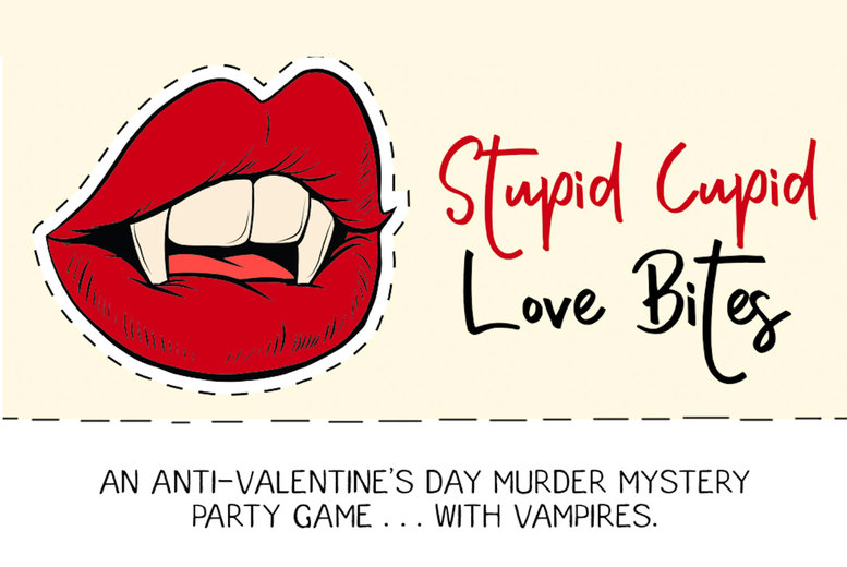 £10 for a Stupid Cupid: Love Bites virtual murder mystery game from Broadway Murder Mysteries - download the game files, distribute among your friends, and uncover the truth of the murder