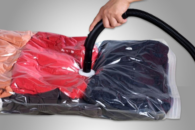 £9.99 instead of £39.99 (from Web 18) for a pack of 6 vacuum storage bags, £19 for 12 storage bags or £27 for 18 - save up to 75%